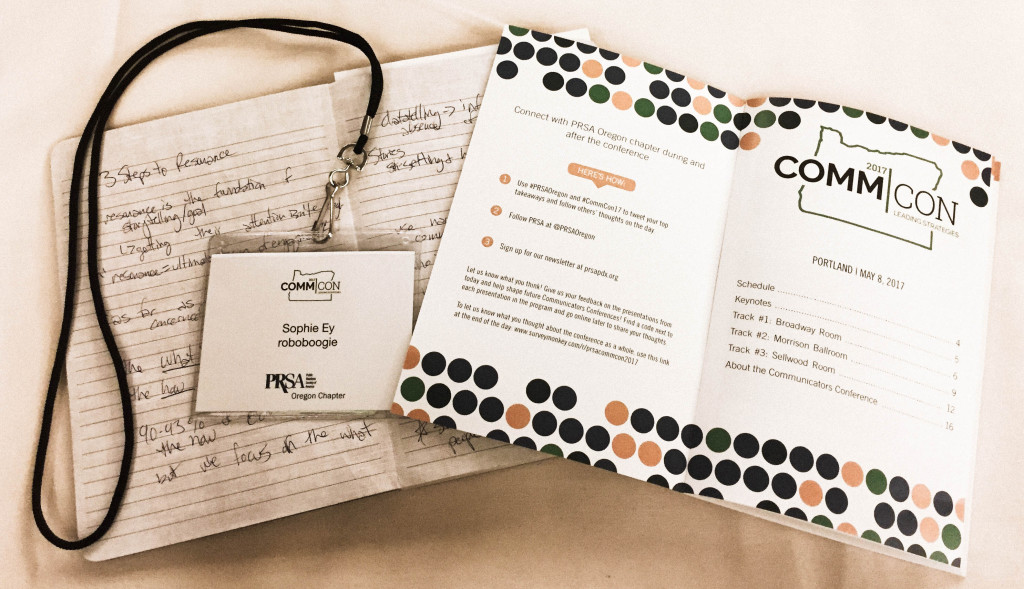 notes and program for Communicators Conference 2017