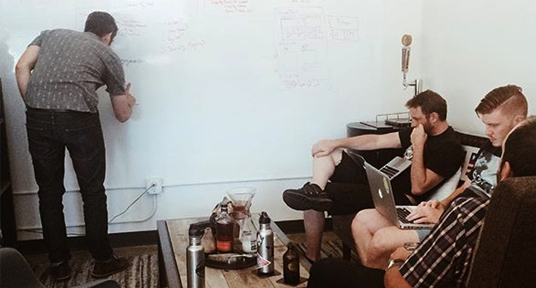 team roboboogie at strategy meeting