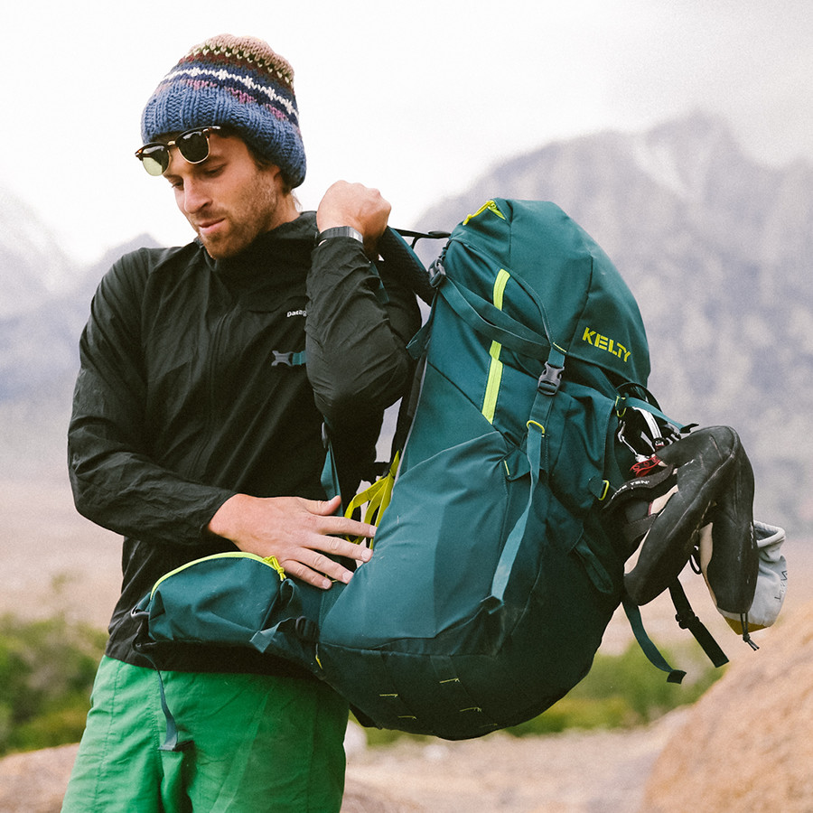Hiker with Kelty pack