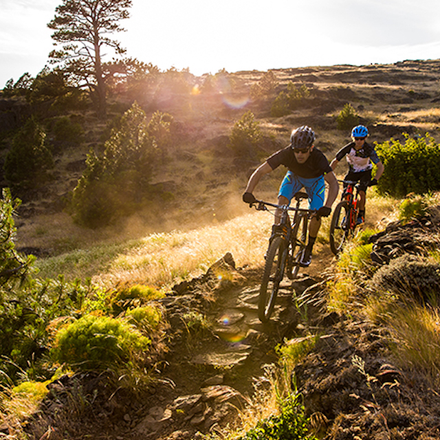 People riding Specialized mountain bikes