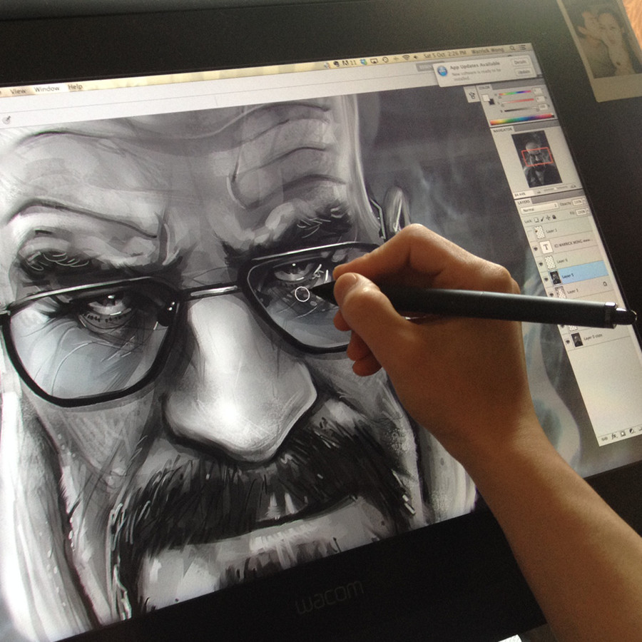 Drawing on a Wacom Tablet