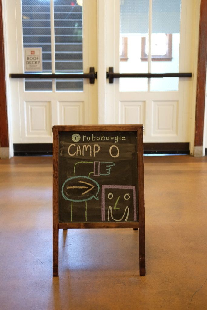 Photo of Welcome Chalk Board to Camp Optimization