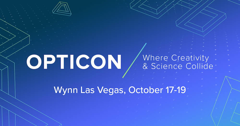 Opticon 17 Promotional Image: Opticon, where creativity and science collide. Wynn Las Vegas, October 17-19