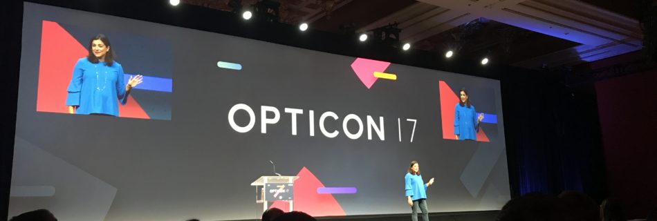 Opticon 2017 - Presentation screen