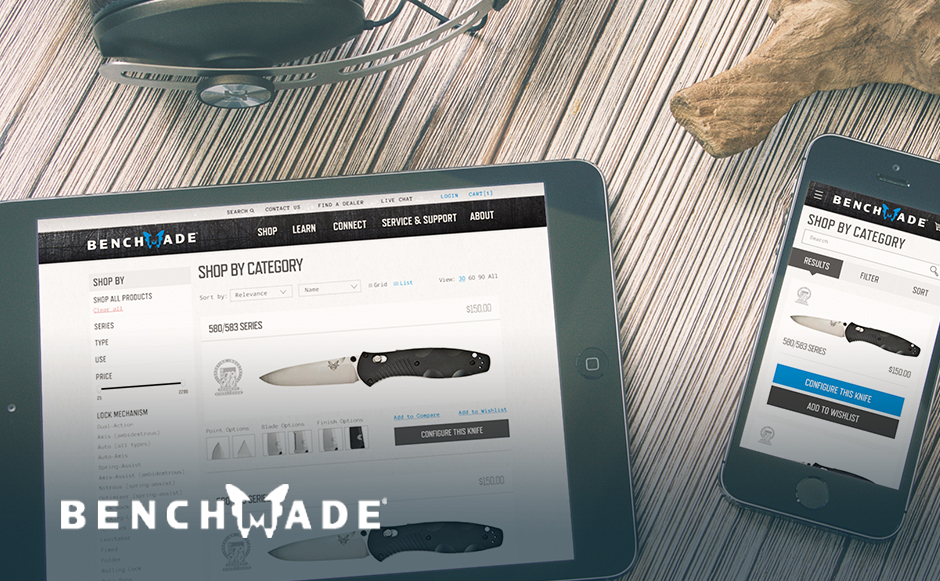 Benchmade and Data-Driven Site Redesign