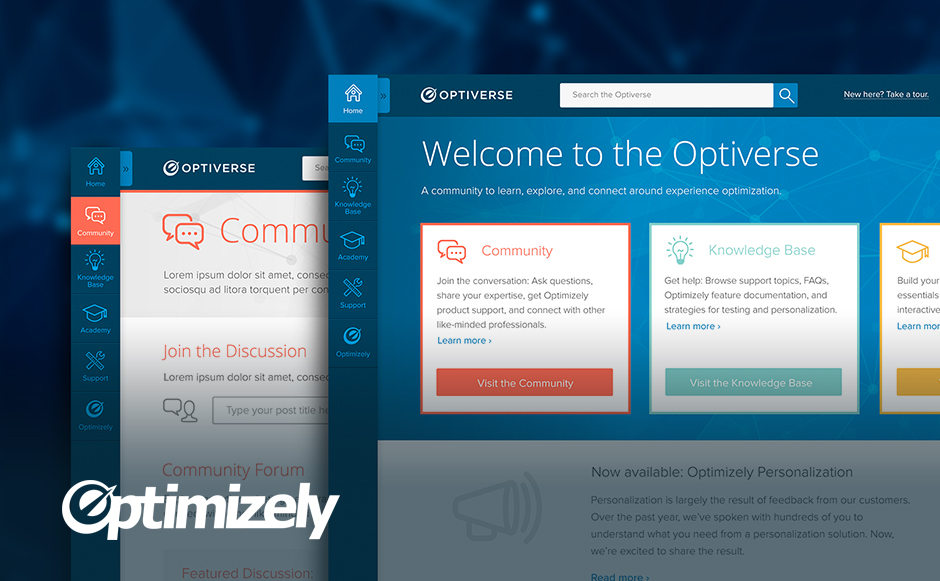 Optimizely and Site Redesign