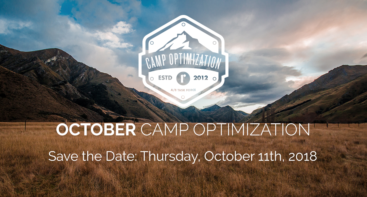 October Camp Optimization - Thursday, October 11th, 2018