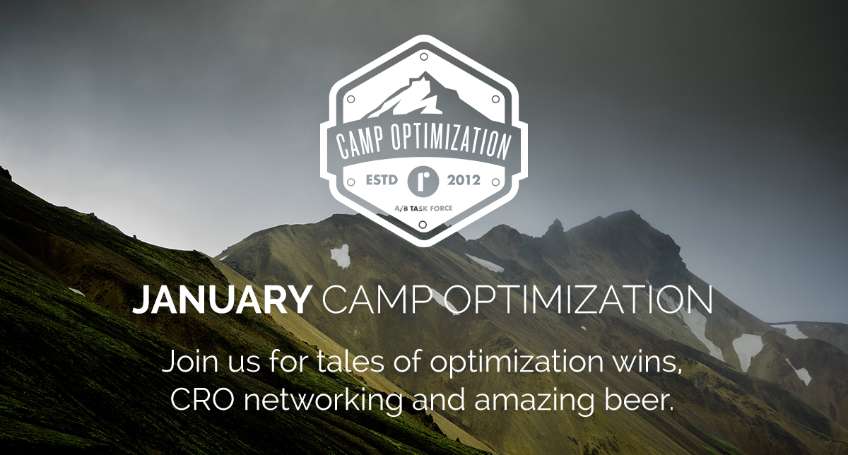Roboboogie's Camp Optimization - Save the Date for Thursday, January 17th, 2019