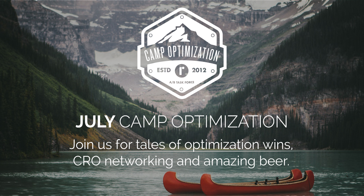 July Camp Optimization Meet Up - Thursday, July 25th, 2019